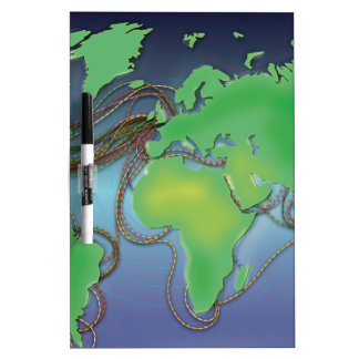 Wires of the World - Undersea Cables Dry Erase Board