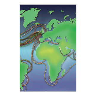 Wires of the World - Undersea Cables Stationery