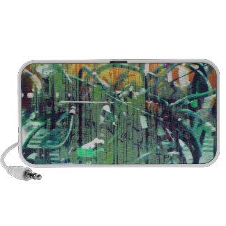 wirewood greens and oranges laptop speaker