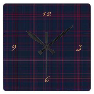 Wirey Plaid Clock