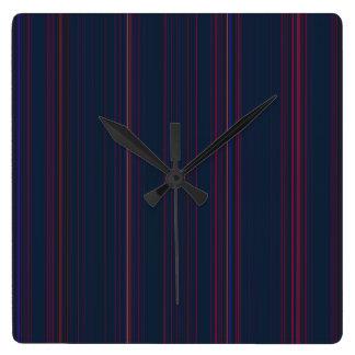 Wirey Stripes Clock