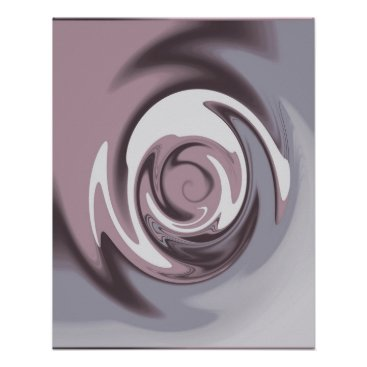 Professional Business Wirlwind Mauve Grey Poster