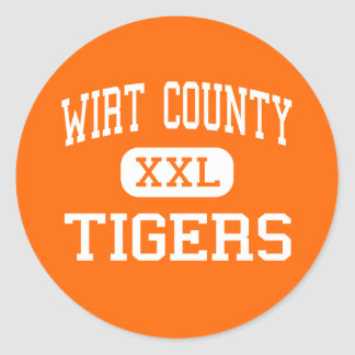 Wirt County - Tigers - High - Elizabeth Classic Round Sticker