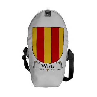 Wirtz Family Crest.png Courier Bag