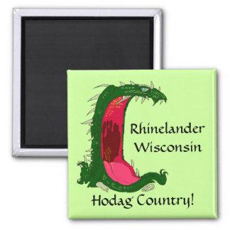 Wisc de los WI de Rhinelander Hodag Hodags del rec Imán De Nevera