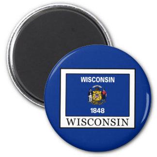 Wisconsin 2 Inch Round Magnet