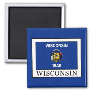 Wisconsin 2 Inch Square Magnet