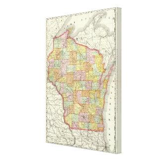 Wisconsin 3 impresión en lona estirada
