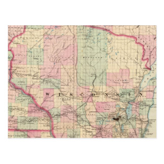 Wisconsin 3 tarjeta postal