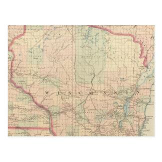 Wisconsin 4 tarjetas postales