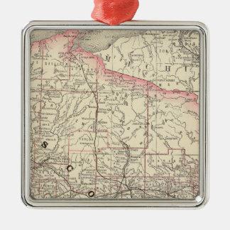 Wisconsin 5 metal ornament