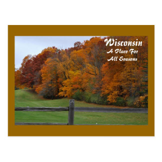 Wisconsin, A Place For... Postcard