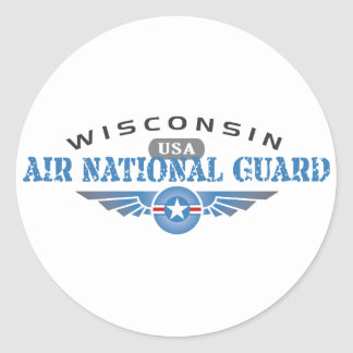 Wisconsin Air National Guard Classic Round Sticker