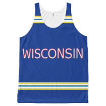Wisconsin All-Over Printed Unisex Tank