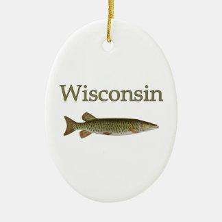 Wisconsin almizclado ornamento de navidad