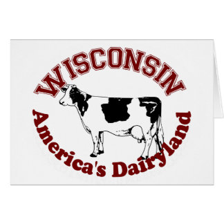 Wisconsin America's Dairyland Card