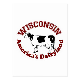 Wisconsin America's Dairyland Postcard