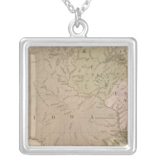 Wisconsin and Iowa Silver Plated Necklace