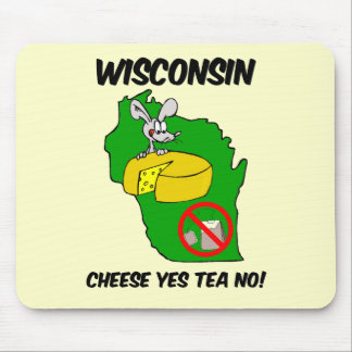 Wisconsin anti tea party mouse pad