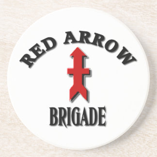 Wisconsin Army National Guard Red Arrow Brigade Drink Coaster