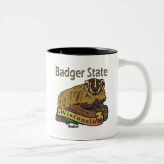 Wisconsin Badger State Badger Two-Tone Coffee Mug