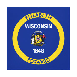 Wisconsin Badger State Personalized Flag Canvas Print