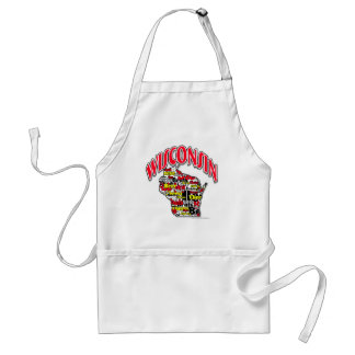 Wisconsin Beer Brats Cheese Fish-Fry Adult Apron