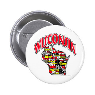 Wisconsin Beer Brats Cheese Fish-Fry Pinback Buttons