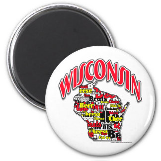 Wisconsin Beer Brats Cheese Fish-Fry Magnet