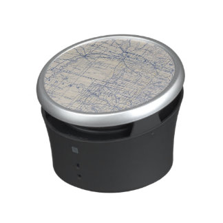 Wisconsin Bicycle Road Map 2 Bluetooth Speaker