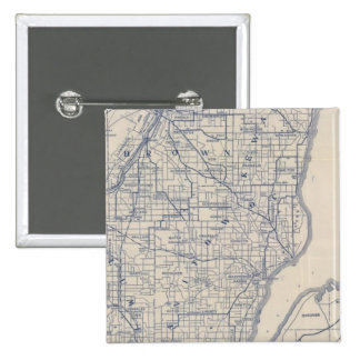 Wisconsin Bicycle Road Map 2 Button