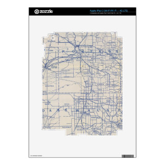 Wisconsin Bicycle Road Map 2 Decals For iPad 3