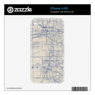 Wisconsin Bicycle Road Map 2 iPhone 4 Decal