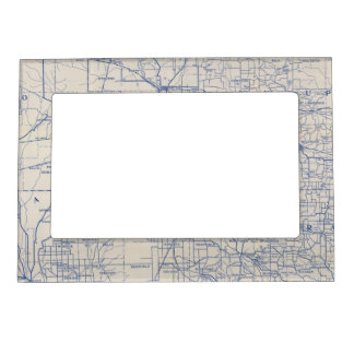 Wisconsin Bicycle Road Map 2 Magnetic Frame