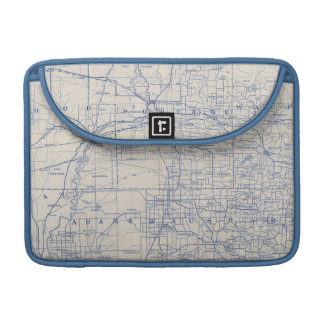 Wisconsin Bicycle Road Map 2 Sleeve For MacBook Pro