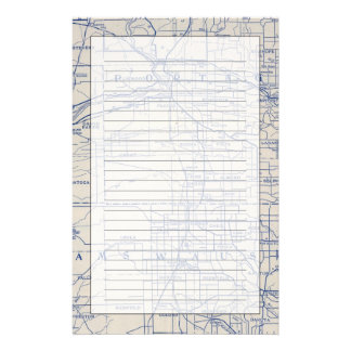 Wisconsin Bicycle Road Map 2 Stationery
