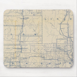 Wisconsin Bicycle Road Map 3 Mouse Pad