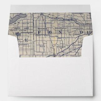 Wisconsin Bicycle Road Map 4 Envelope