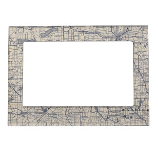 Wisconsin Bicycle Road Map 4 Magnetic Picture Frame