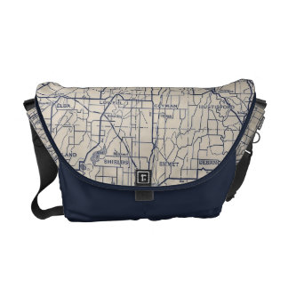 Wisconsin Bicycle Road Map 4 Messenger Bag