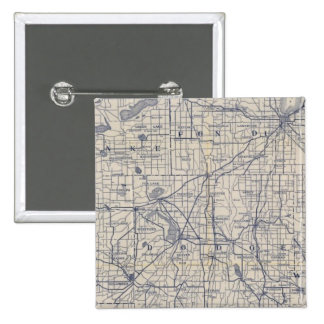 Wisconsin Bicycle Road Map 4 Pinback Button