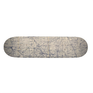 Wisconsin Bicycle Road Map 4 Skateboard Deck