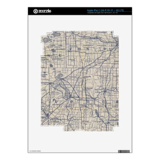 Wisconsin Bicycle Road Map 4 Skin For iPad 3
