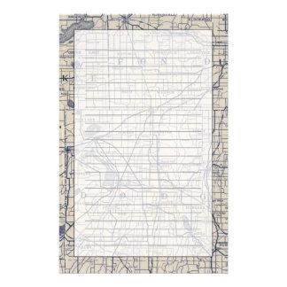 Wisconsin Bicycle Road Map 4 Stationery