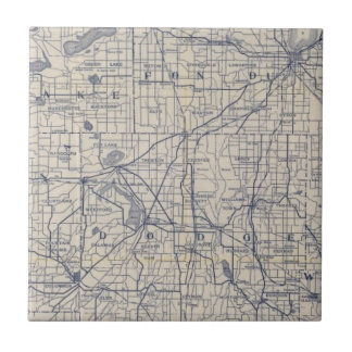 Wisconsin Bicycle Road Map 4 Tile