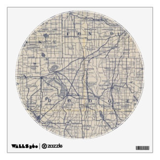 Wisconsin Bicycle Road Map 4 Wall Graphics