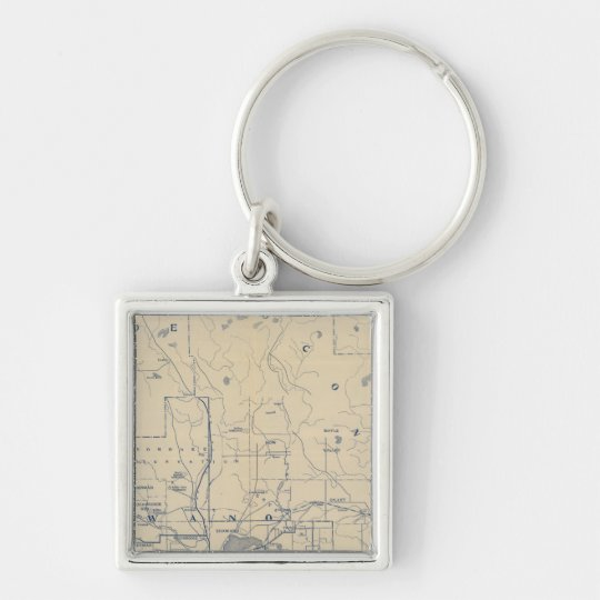 Wisconsin Bicycle Road Map 5 Keychain