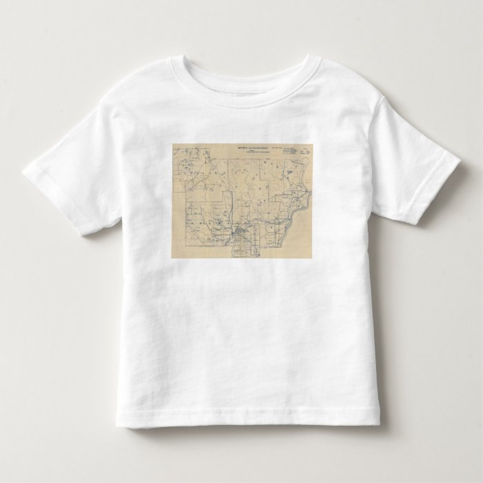 Wisconsin Bicycle Road Map 5 Toddler T-shirt