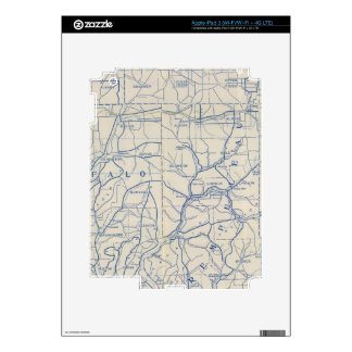 Wisconsin Bicycle Road Map 6 Decals For iPad 3