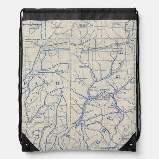 Wisconsin Bicycle Road Map 6 Drawstring Bag